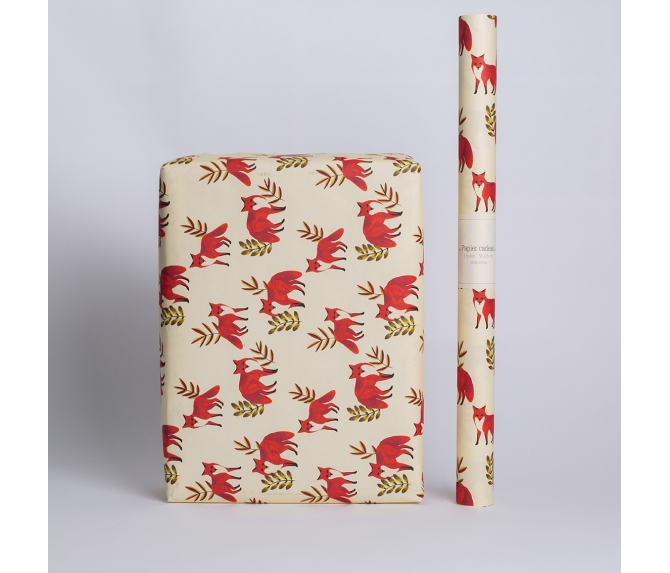 WRAPPING PAPER FOXES