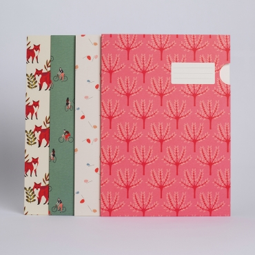 SET OF 4 FOLDERS Stockholm