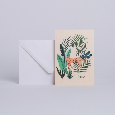 "CARD LEOPARD ""HELLO"""