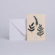 """CARTE HERBIER D'HIVER """"BEST WISHES"""""""