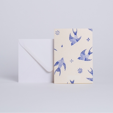 MESSAGE CARD AZULEJOS