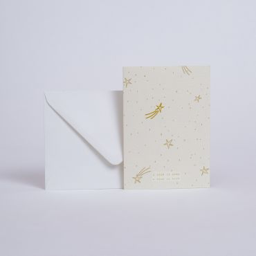 "CARD ETOILES ""A STAR IS BORN"""