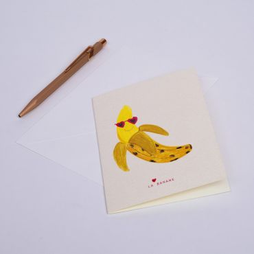 "CARD LA BANANE ""BANANA"""