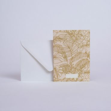 MESSAGE CARD ABONDANCE OLIVE
