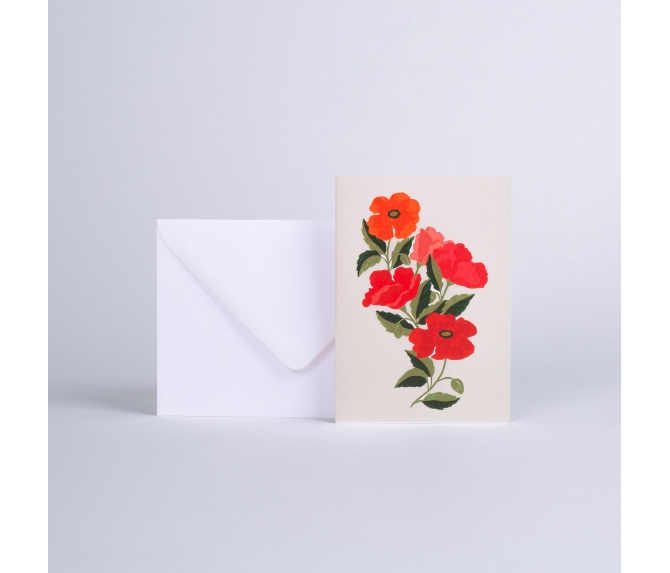MESSAGE CARD COQUELICOTS