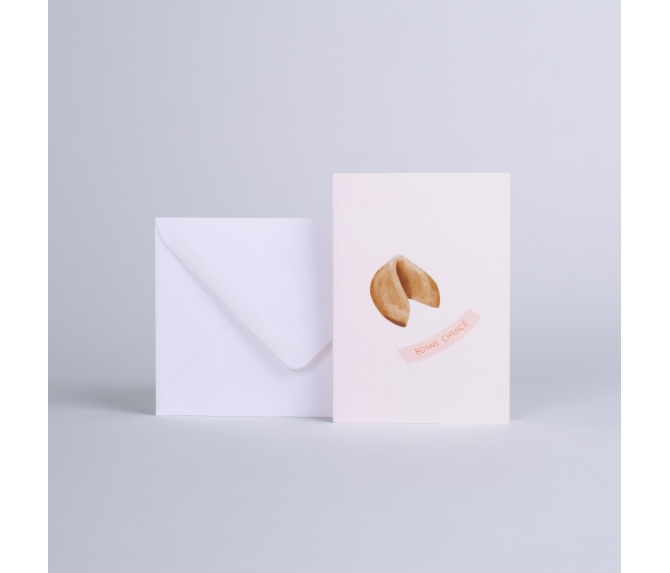 """CARD FORTUNE COOKIE """"BONNE CHANCE"""""""